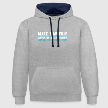 Collection ALLEZ MARSEILLE Supporter of Reunion - Contrast Colour Hoodie