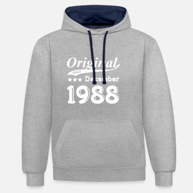 Original Original Since December 1988 Gift - Contrast Colour Hoodie