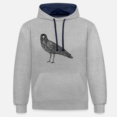 Hipster The crow - Contrast Colour Hoodie