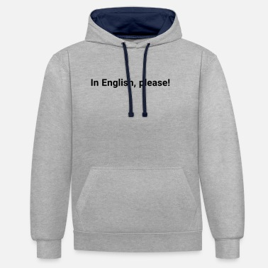 Teacher In English - Kontrast-Hoodie