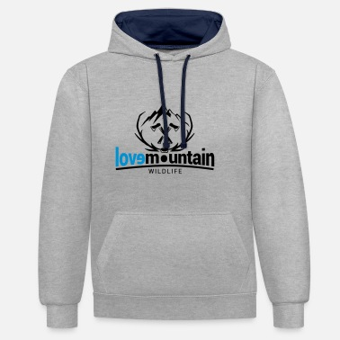 montagne - Sweat-shirt contraste