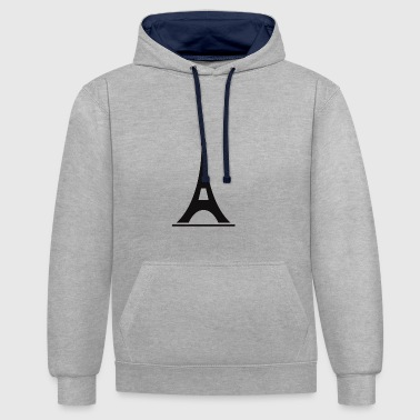 Eiffel Tower - Contrast Colour Hoodie