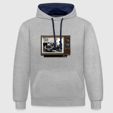 TV @ the TV - Contrast Colour Hoodie