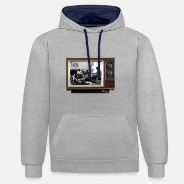 Tv TV @ the TV - Contrast Colour Hoodie