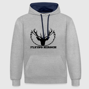THE FLYING HOG - Contrast Colour Hoodie
