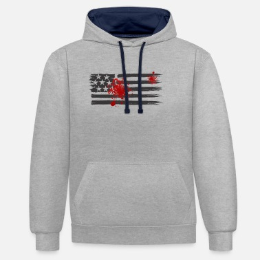 USA & blood - Contrast Colour Hoodie