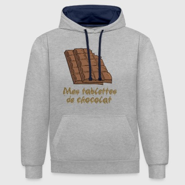 tablettes de chocolat - Sweat-shirt contraste