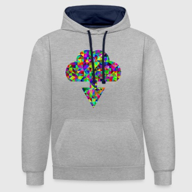 Nuage nuage - Sweat-shirt contraste