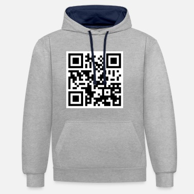 Offensive Offensive QR Code - Contrast Colour Hoodie