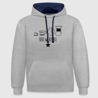 BREW BABE - Contrast hoodie