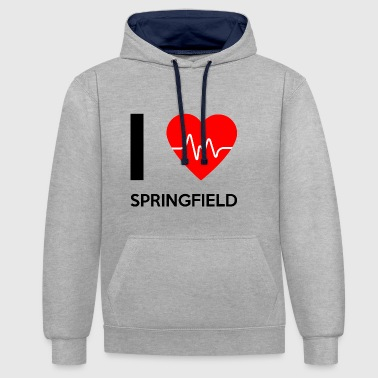 I Love Springfield - I Love Springfield - Contrast Colour Hoodie