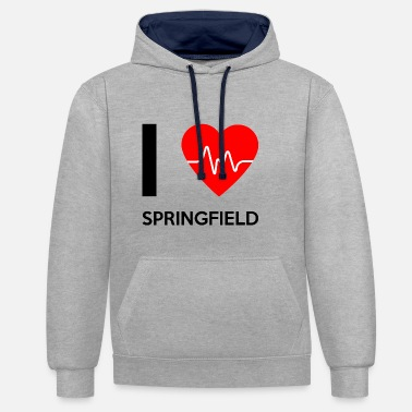 Springfield I Love Springfield - I Love Springfield - Contrast Colour Hoodie