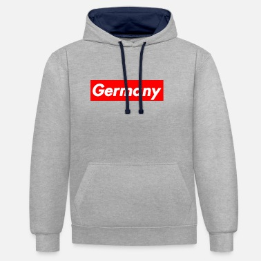 WM Germany 2018 Fanshirt Logo - Contrast Colour Hoodie
