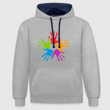 Together - Contrast Colour Hoodie