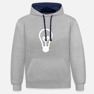 Light Bulb Light bulb lamp light Brine light bulb - Contrast Colour Hoodie