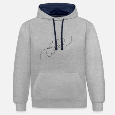 Tlc Heart Love - Oneline - Contrast Colour Hoodie