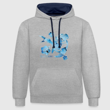 requin martin - Sweat-shirt contraste