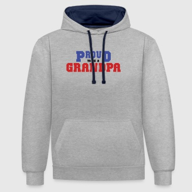 Fier d'être un grand-père - Sweat-shirt contraste