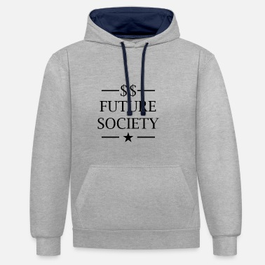 Society Future Society - Contrast Colour Hoodie