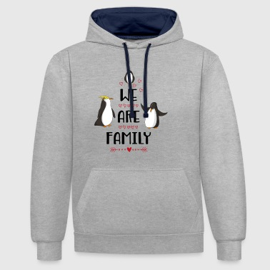 family - Contrast Colour Hoodie
