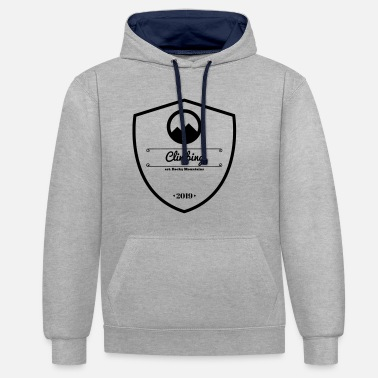 Climbing mountains passion (logo) - Contrast Colour Hoodie