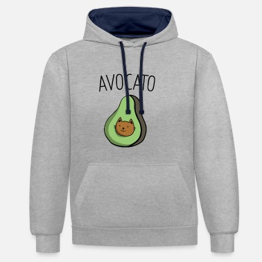 Animaux avocat - Sweat-shirt contraste