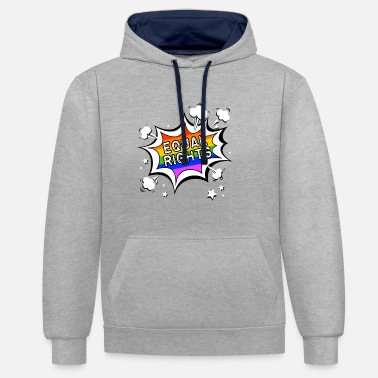 Gay Bubble Equal Rights Lgbt Gay Pride Rainbow Comic Bubble Contrast Colour Hoodie