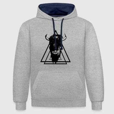 Bison. - Contrast Colour Hoodie