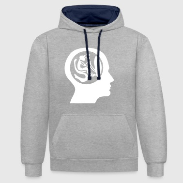 Alien at the wheel. In the head. - Contrast Colour Hoodie