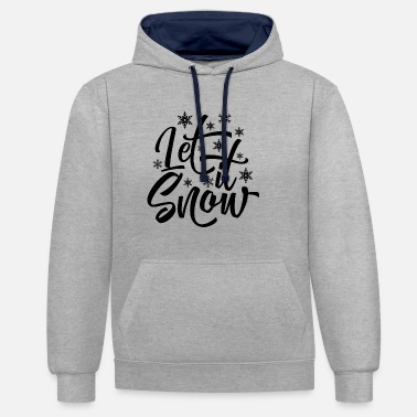 Let It Snow LET IT SNOW - Sudadera con capucha en contraste