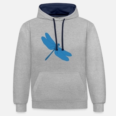 Dragonfly Dragonfly - Dragonfly - Contrast Colour Hoodie