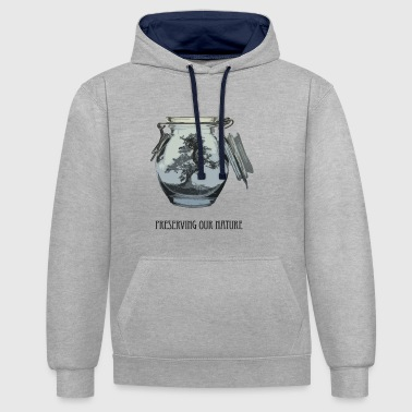 Preserving our nature - Contrast Colour Hoodie