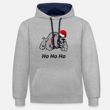 Santas Watchdog - Sweat-shirt contraste
