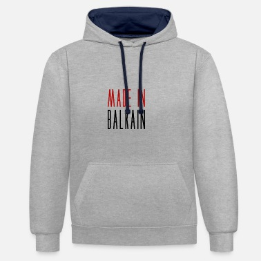 Made in Balkain - Contrast Colour Hoodie