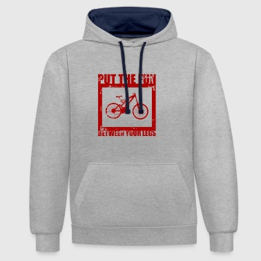 Bike / fun / legs / bike / gift - Contrast Colour Hoodie