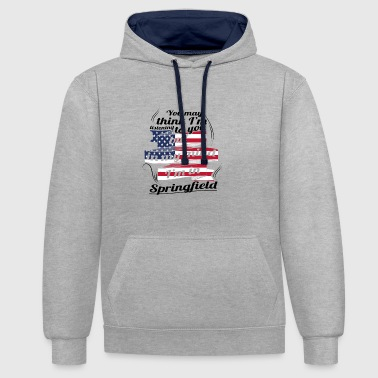 THERAPY HOLIDAY AMERICA USA TRAVEL Springfield - Contrast Colour Hoodie