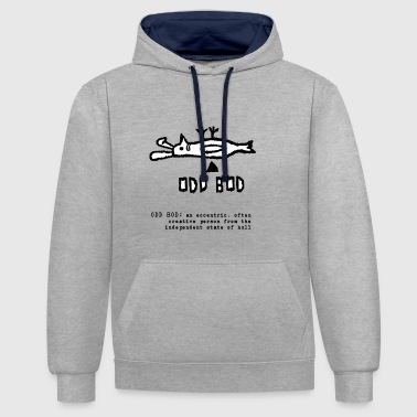Oneven Bod lachend - Contrast hoodie