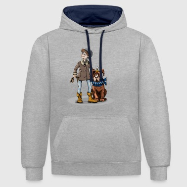 Animal chien chien animal animal animal - Sweat-shirt contraste