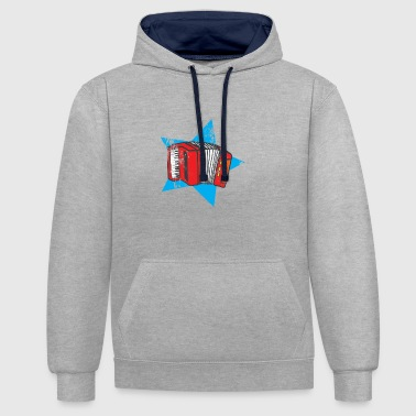 I love accordion music with the accordion - Contrast Colour Hoodie