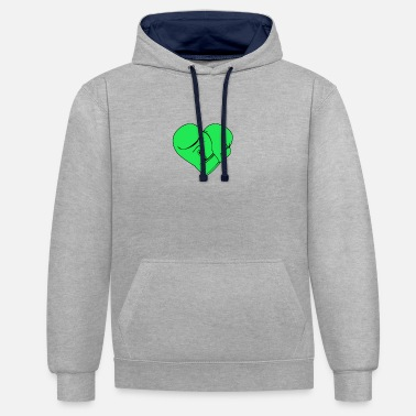 Boxing Gloves BOXING GLOVES GREEN - Contrast Colour Hoodie