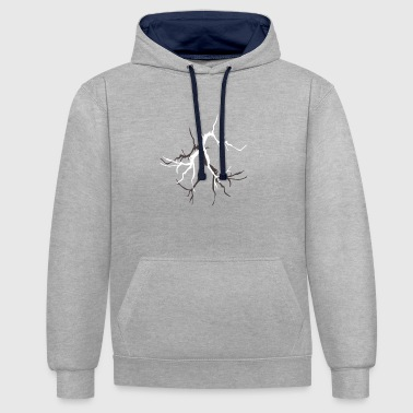 Lightning with Lightning Bolt graphics - Contrast Colour Hoodie