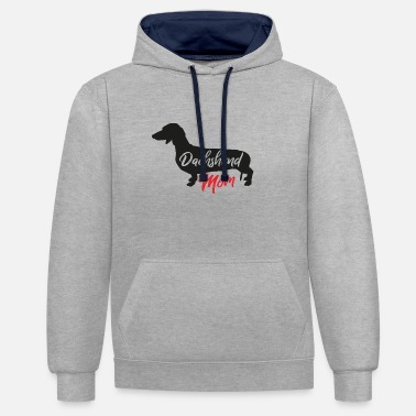 Sausage Dachshund Dachshund Dogs Mother Mom Gift Idea - Contrast Colour Hoodie
