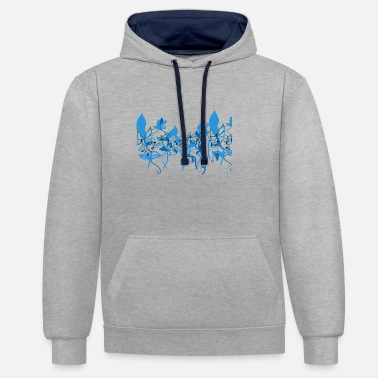 Baroque Flowers in the Baroque - Contrast Colour Hoodie