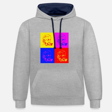 Albert Einstein Albert Einstein x 4 - Contrast Colour Hoodie