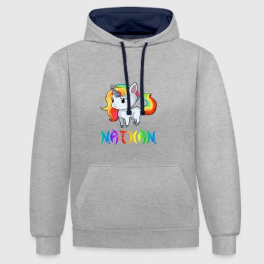 Unicorn Nathan - Contrast Colour Hoodie