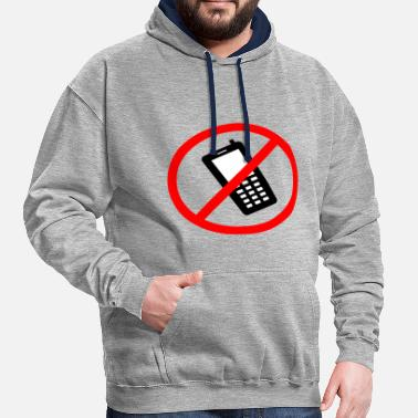 telephone cellphone cellphone radiotelephone retro23 - Contrast Colour Hoodie