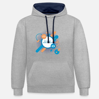 Go ahead make my day - Kontrast-Hoodie