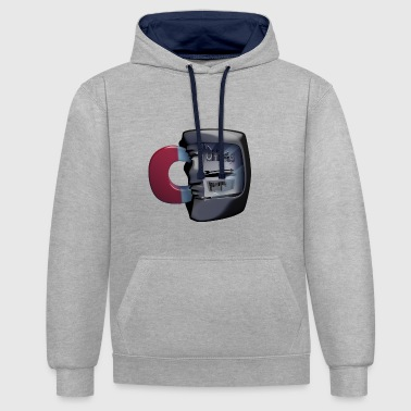 Electricity meter - electrical engineering - Contrast Colour Hoodie
