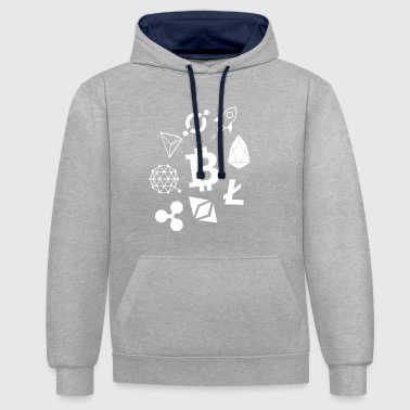 Cryptocurrencies - cryptocurrencies - Contrast Colour Hoodie