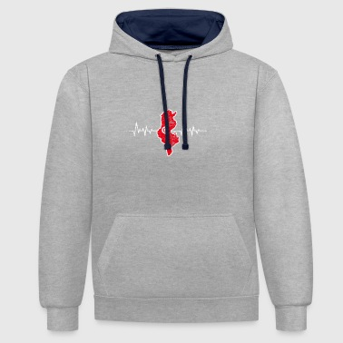 Tunisia - Contrast Colour Hoodie
